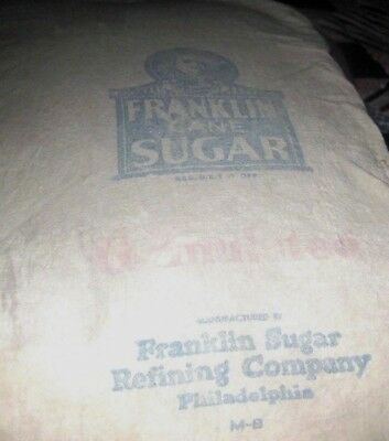 Vintage Old Cloth Sugar Bag Ben Franklin Sugar Small 5 lb Sack Ships Free