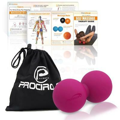 Double Massage Ball Peanut Lacrosse Myofascial Release Trigger Point Therapy