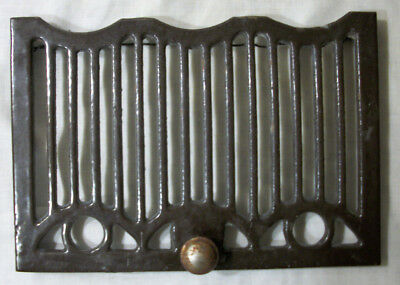 "Vintage Floor or Wall Vent Grate Art Deco 10"" x 7"" #13F625 Rusty Knob"