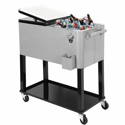 Clevr Outdoor 80quart Party Portable Rolling Cooler Ice Chest