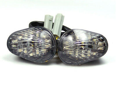 Clear Turn Signals For Yamaha YZF 600 R6 Flush Mount LED 2006-2009  US