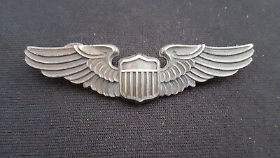 """WW2 US Army Air Corps Pilot 3"""" Wing Sterling LGB"""