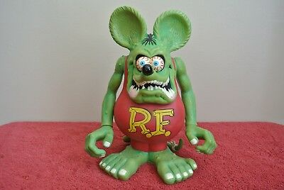 2009 LARGE RAT FINK Piggy Coin Bank Doll Figure Toy  Limited