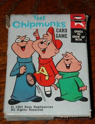 The Alvin Show Alvin and the Chipmunks Card Game 1963 Vintage