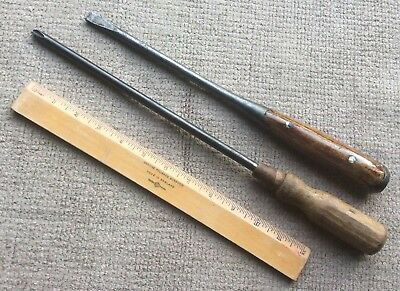 Vintage Tools - Pair Of Large Screw Drivers - Restoration Project