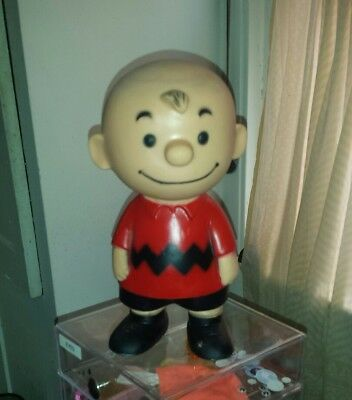 Vtg 1958 PEANUTS United Features Syndicate Hungerford CHARLIE BROWN Vinyl Figure