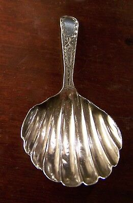 sterling silver tea caddy spoon georgian regency NR