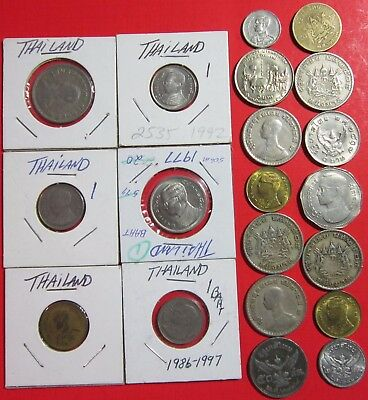 Thailand. Vintage Lot Of 20 Assorted Thai Coins. See Pics.