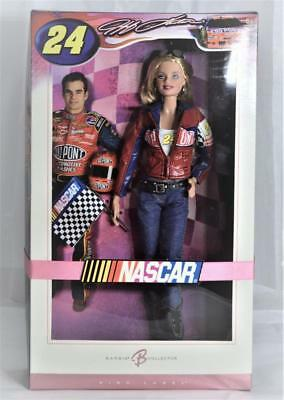 Jeff Gordon 2006 NASCAR Barbie Collector Doll Pink Label Edition EC New in Box