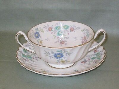Royal Doulton Pastoral Cream Soup Cup or Coupe & Saucer  Pattern No.H4810
