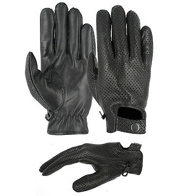 Goldbrow Real Soft Leather Men Driving Gloves | Genuine Lambskin Driving Gloves