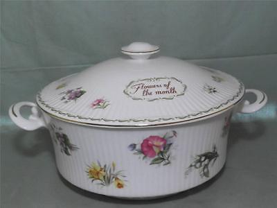 Queens China Flower of the Month Lidded Vegetable Tureen