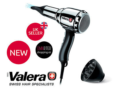 Valera Professional Swiss Metal Master Light 2000W Chrome Ionic Steel Hairdryer