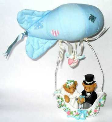 Cherished Teddies Wedding Blimp Enesco Bears Our Journey Has Just Begun 2001 New
