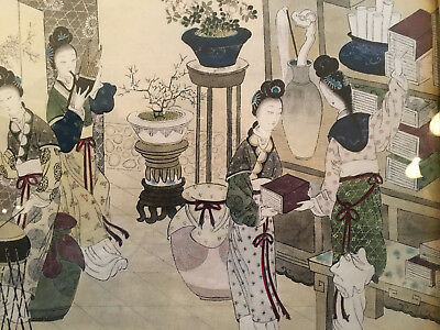 A Fine Chinese Antique Painting on paper, Framed.