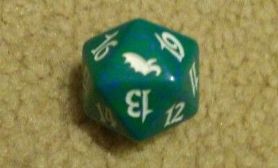 Magic The Gathering: Shadowmoor Green  20 Sided Spindown Dice (x1)
