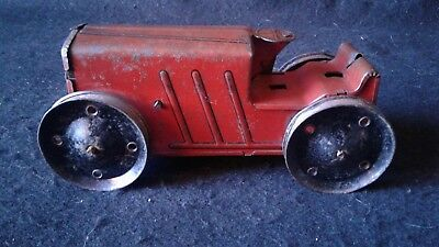 Vintage Marx Tin Toy Wind Up Bulldozer Farm Tractor *Works! Missing parts