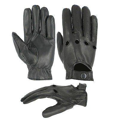 Goldbrow Soft Real Leather Men Driving Gloves   Genuine Lambskin Driving Gloves