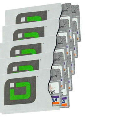 10 Pack - Identity Stronghold Secure Sleeves - Block 13.56Mhz RFID Cards & ID's