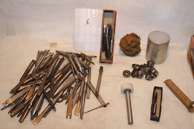 Vintage Machinist Lot drill Bits Fafner Ball Bearings Stanley Starrett Union +