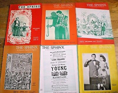 THE SPHINX ~ INDEPENDENT MAGAZINE FOR MAGICIANS ~ 6 Issues, 1943 to 1949 ~ PLUS