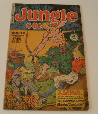 Jungle Comics #117, Fiction House, GGA,1949, VG