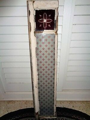 ANTIQUE VINTAGE STAINED GLASS WINDOW ARCHITECHTURAL SALVAGE Must See!