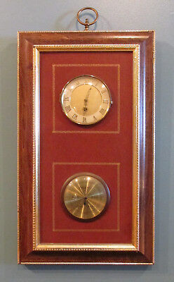 Vintage German 8 Day Wall Clock/Barometer by Endura  Works Great!