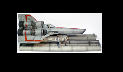 space 1999 eagle PROP ( VINTAGE 1978 BATTLESTAR GALACTICA VIPER SHIP AND STAND )