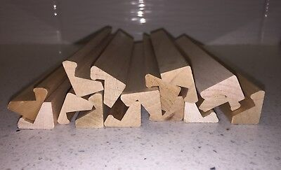 Lot of 15 Wood Scrabble Tile Racks Holders Holder Wood Crafts Nice Square Edge