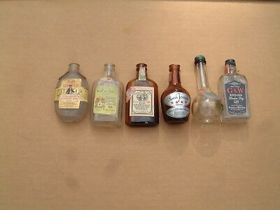 VINTAGE MINI MINIATURE LIQUOR BOTTLES  Lot # 5