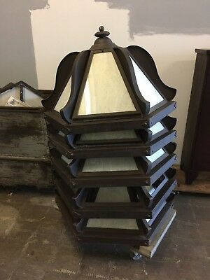Set of Four Steel1980s/90s Industrial Lobby/Restaurant Ceiling Light Fixtures