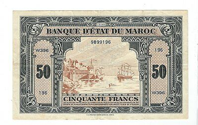 Morocco - 1944, Fifty (50) Francs
