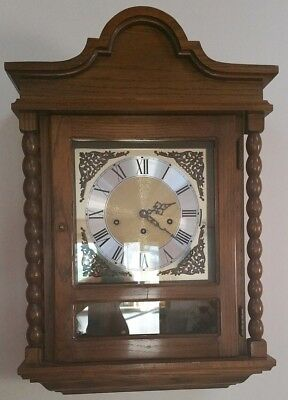 Gorgeous & Rare Concerto Westminster Chime Wall Clock w/ Hermle 351-021 Movement