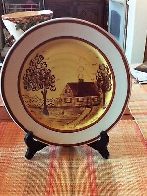 "Blue Ridge Artist Signed ""Gold Cabin"" Plate"