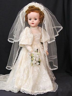 "23"" Sweet Sue Bride Lovely Gown Hard Plastic Head Vinyl Arms Display Ready"