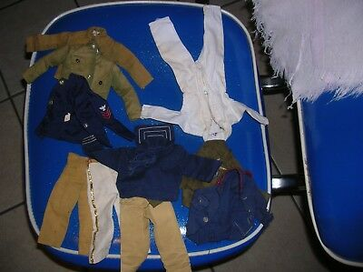 Lot of Vintage Gi Joe and knock off clothes for repair As Is