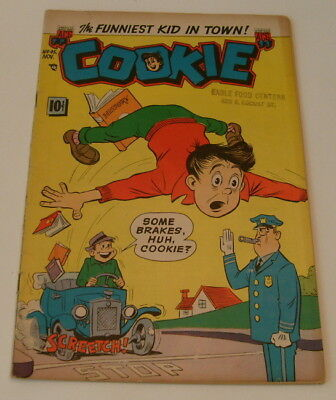 Cookie #45, ACG, 1953, 1st app. of Dizzy Dame nitwit Moronica in this title