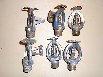 Fire dept sprinkler heads lot of 6 different used automatic reliable star