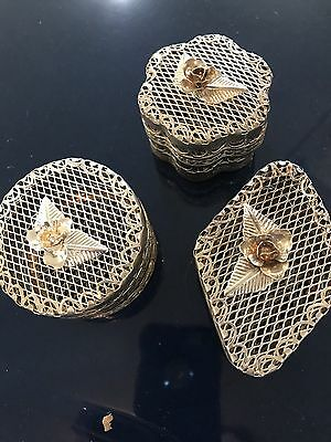 Decorative Basket Jewelry Storage Trinket Chest Vintage Metal Small Box Gift