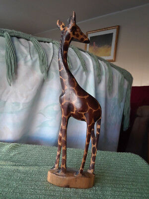 Wooden Hand Carved GIRAFFE 12 Inches (Kenya)