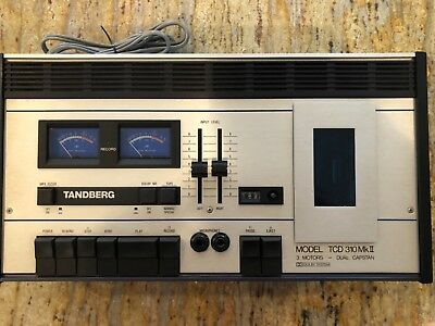 Tandberg TCD-310 Mk ll Stereo Cassette Deck. Working and in Prime Condition