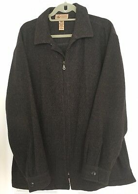 MENS LORD AND TAYLOR 100% WOOL WINTER JACKET COAT CHARCOAL GRAY SIZE Extra Large