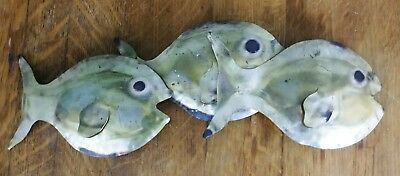 Mid century brass wall art Sculpture Fish Vintage Modern