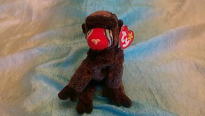 Ty Beanie Babies Baby Cheeks the Baboon Rare Retired 1999
