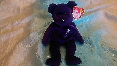 "Ty Beanie Babies Baby ""Princess"" Rare Retired. DOB 1997."