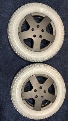 2 Jazzy Pride Quantum Power Wheelchair Tires Rims Wheels Primo Powertrax 3.00X8