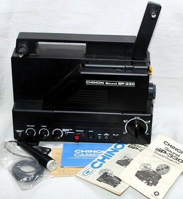 Chinon Sound SP330 Super 8mm Projector as NEW ,TESTED  Beautiful, with org.books