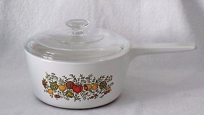 Corning Ware Spice of Life Rangetoppers Covered Sauce Pan Dish N-2 1/2-B
