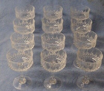 Cristal D'Arques France LongChamp Crystal Champagne Sherbet Glasses - Set of 12
